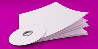 3D Illustration of Brochure Template on color background Royalty Free Stock Photo