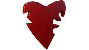 3D illustration broken heart. 3D rendering on white background.  Stock Image