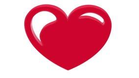 3D illustration broken heart. 3D rendering on white background. 3D illustration heart shape symbol design. 3D rendering on white background Stock Image