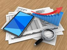 3d tablet computer Royalty Free Stock Images