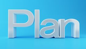 3d Business plan text. 3d illustration. Business plan text. Success concept Royalty Free Stock Photography