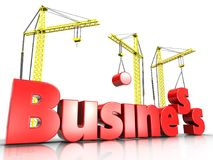 3d business over white Royalty Free Stock Images