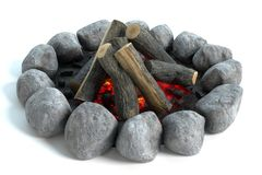 Campfire with wood royalty free stock images