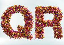3D Illustration of Candy Dot Alphabet stock image
