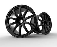 3d illustration of car rims Stock Photos