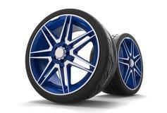 3d illustration car wheel Stock Photo