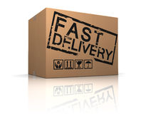 Fast delivery box Royalty Free Stock Image