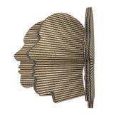Corrugated cardboard head isolated on white background Royalty Free Stock Image
