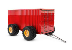 3d illustration of Cargo container on the four wheels. isolated on white background. 3d illustration of Cargo container on the four wheels, isolated on white Stock Photos