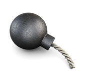 3d illustration of a cartoon bomb. Royalty Free Stock Photos