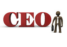 3D Illustration, cartoon character, CEO Royalty Free Stock Images