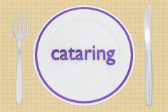 catering - culinary concept stock illustration