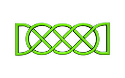 3d illustration of Celtic knot Stock Images