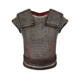3d illustration of chain mail armor isolated on white background Stock Photos