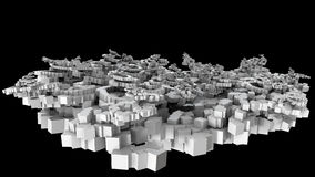 3D illustration of chaotic small cubes object Stock Images
