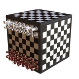 3d illustration of chess  situation. With board Stock Images