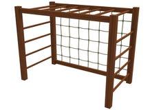3d illustration of children playground gates. Royalty Free Stock Image