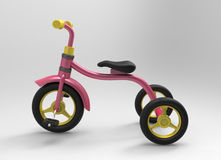3d illustration of children tricycle Stock Image