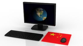 3d illustration China hack the states Royalty Free Stock Image