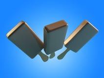 3d Illustration of chocolate ice cream. Royalty Free Stock Photo