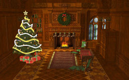 3D Illustration Christmas Stock Photo