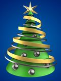 3d christmas tree Stock Photo
