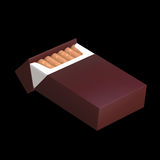 3d illustration of cigarette package Royalty Free Stock Photos