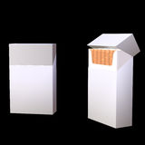 3d illustration of cigarette package. On black Royalty Free Stock Photos