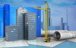 3d of crane Stock Images