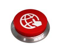 Click Globe icon. 3d illustration of Click Globe icon Royalty Free Stock Photo