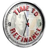 3D Illustration Clock Face with text Time To Refinance. High resolution 3d illustration of clock face with text Time To Refinance isolated on pure white vector illustration