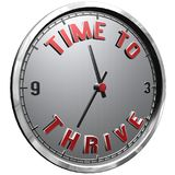 3D Illustration Clock Face with text Time To Thrive. High resolution 3d illustration of clock face with text Time To Thrive isolated on pure white background vector illustration