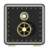 3d illustration of closed metal safe isolated on white background. Security concept. Icon Royalty Free Stock Photo