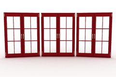 3d illustration of closed plastic windows Royalty Free Stock Photo