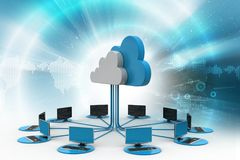 Cloud computing with computer network Royalty Free Stock Photo