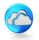 Clouds icon Royalty Free Stock Images