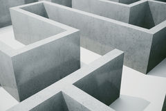 3d illustration cocrete labyrinth, complex problem solving concept.  Royalty Free Stock Images