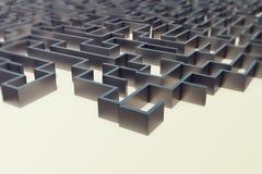 3d illustration cocrete labyrinth, complex problem solving concept Royalty Free Stock Images