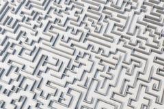 3d illustration cocrete labyrinth, complex problem solving concept Royalty Free Stock Photos