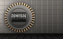3d safe code dial Royalty Free Stock Photography