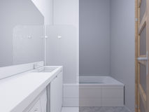 3d illustration collage of interior design bathroom Royalty Free Stock Photo