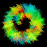 3D illustration of colored circle structure Royalty Free Stock Photography