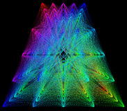 3D illustration of colored geometric sheme connection structure Stock Images