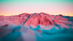 3d illustration of colorful Abstract Mountains royalty free stock photos