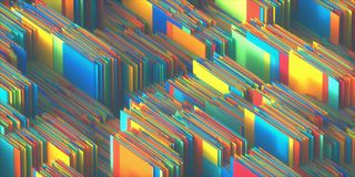 Colorful Abstract Background Texture. 3D illustration of colorful abstract shapes. Image for texture and background Stock Photography