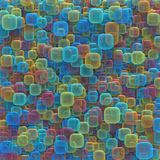 Colorful Abstract Background Texture. 3D illustration of colorful abstract shapes. Image for texture and background Stock Photos