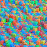 Colorful Abstract Background Texture. 3D illustration of colorful abstract shapes. Image for texture and background Stock Photo