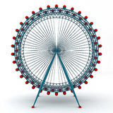 3D Illustration Of Colorful Double Carousel Royalty Free Stock Image