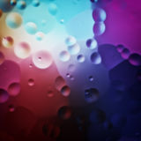 Colorful oil drops background. 2d illustration of a colorful oil drops background Royalty Free Stock Image