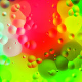 Colorful oil drops background. 2d illustration of a colorful oil drops background Stock Photography